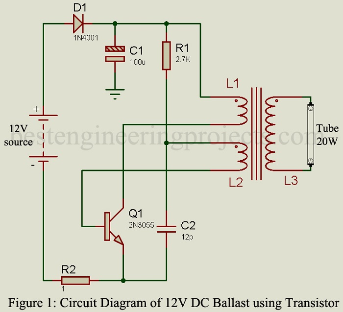 12V DC Ballast Circuit - Engineering Projects