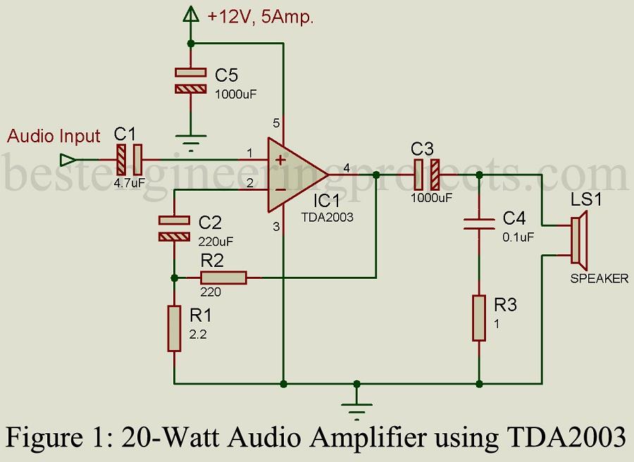 Tda2003 Amplifier Circuit Diagram Trusted Wiring Diagram