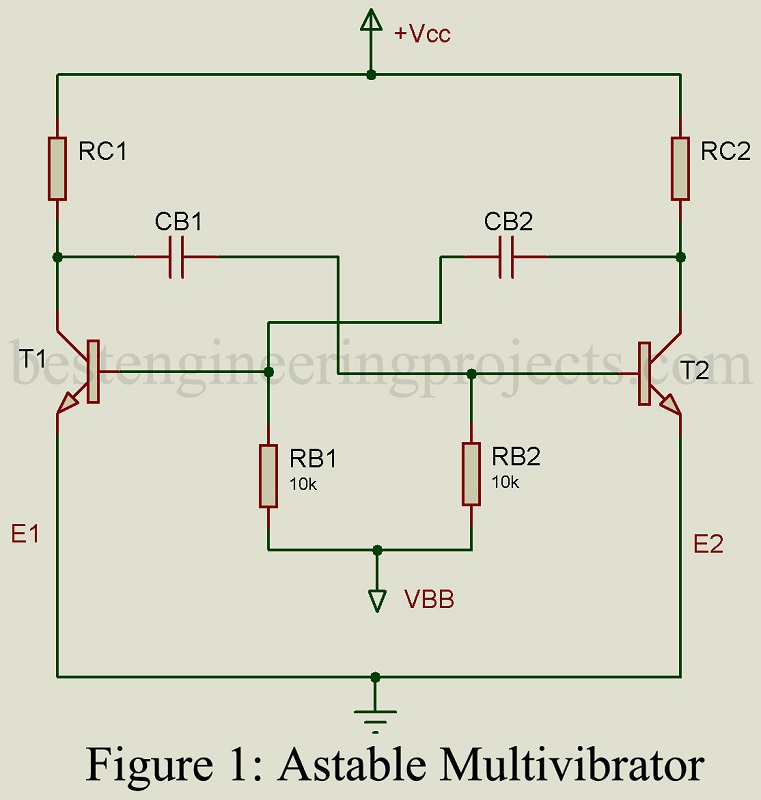 astable multivibrator engineering projects