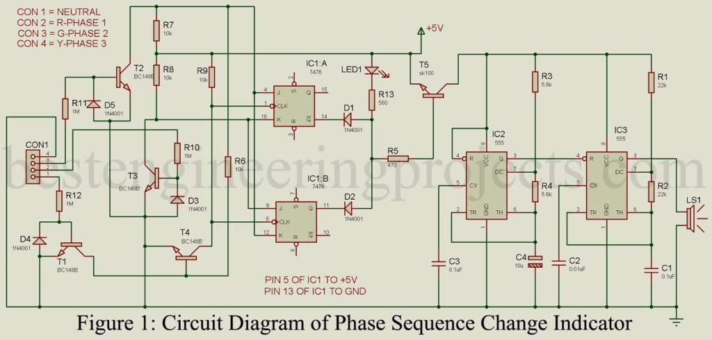 Phase Sequence Change Indicator - Engineering Projects