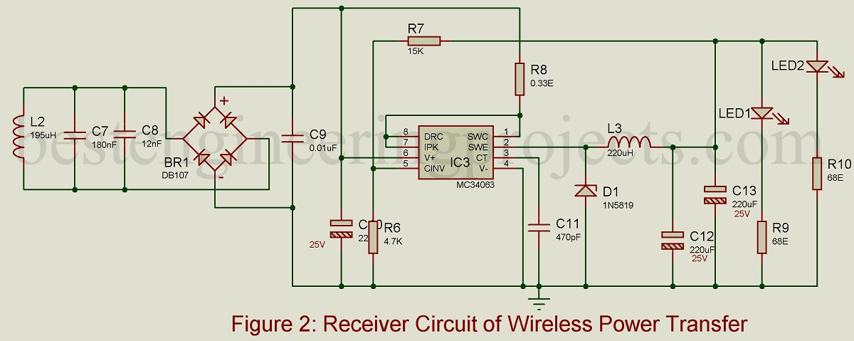Superb Wireless Mobile Charger Circuit Diagram Engineering Projects Wiring Digital Resources Bemuashebarightsorg