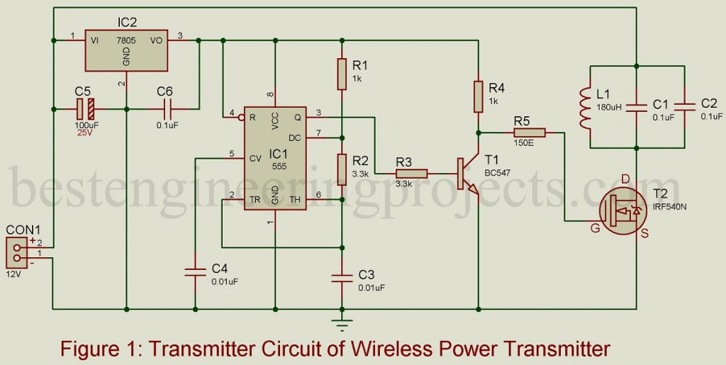 Wireless Mobile Charger Circuit Diagram | Wireless Mobile Charger Circuit Diagram Best Engineering Projects