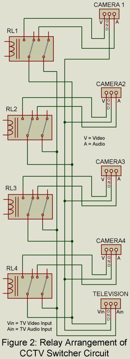 CCTV Switcher Circuit using Timer IC 555 - Engineering Projects