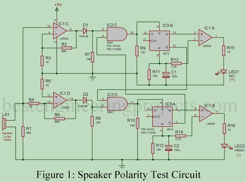 Speaker Polarity Test Circuit - Engineering Projects