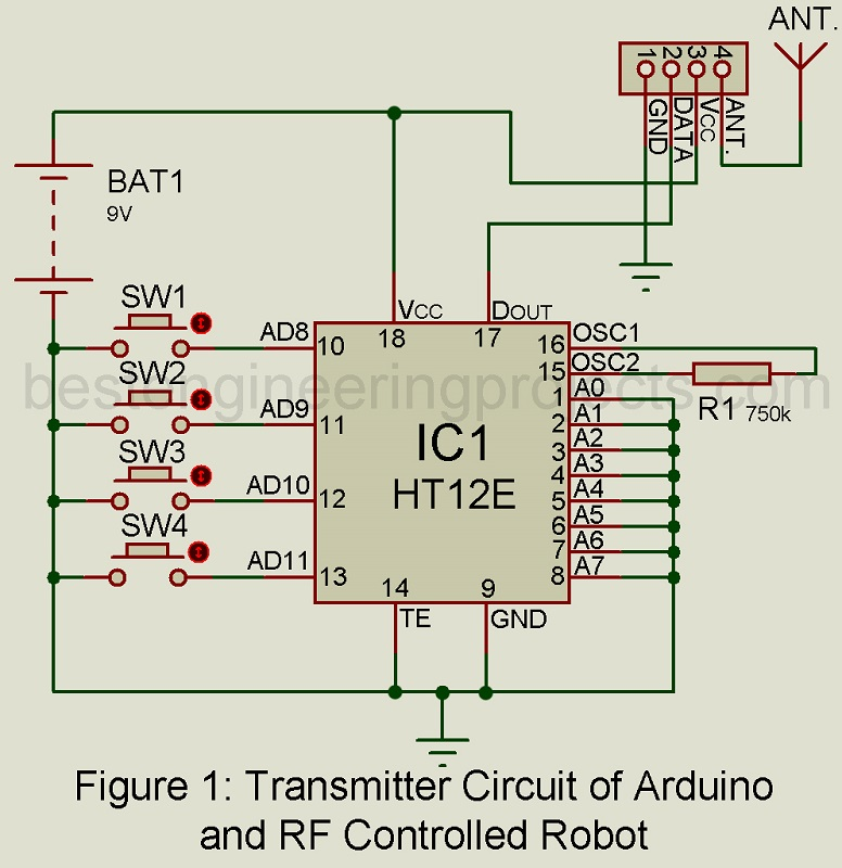 Arduino and RF Controlled Robot - Engineering Projects