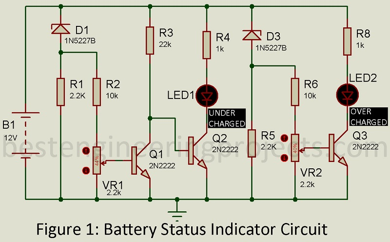 Battery Status Indicator Circuit