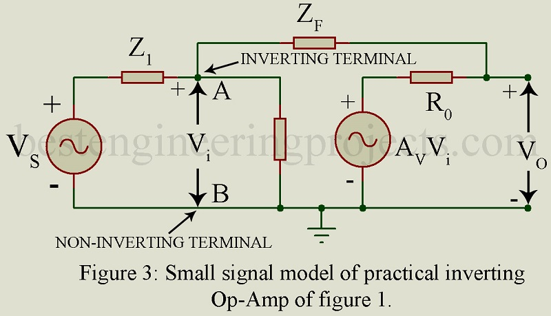 Inverting Operational Amplifier with Voltage Shunt Feedback