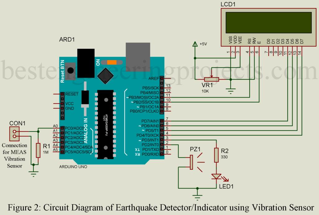 earthquake detector indicator circuit using vibration sensorearthquake detector circuit using vibration sensor