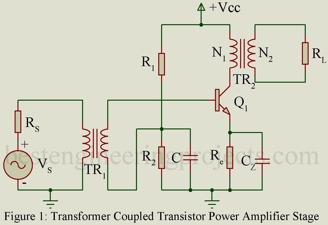 Transformer Coupled Audio Power Amplifier - Engineering Projects