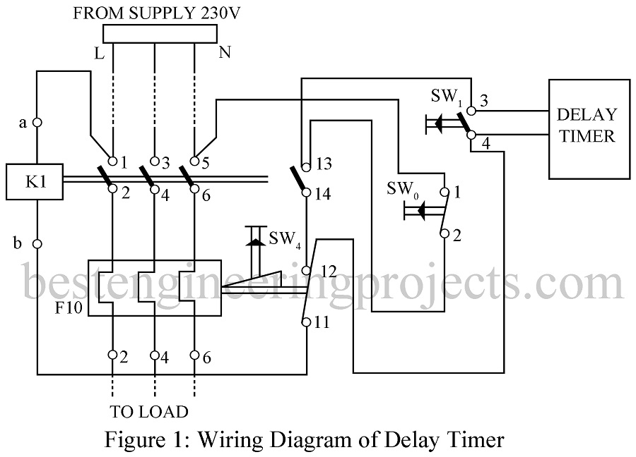 Delay Starter Using 556 Dual Timer Ic Engineering Projects