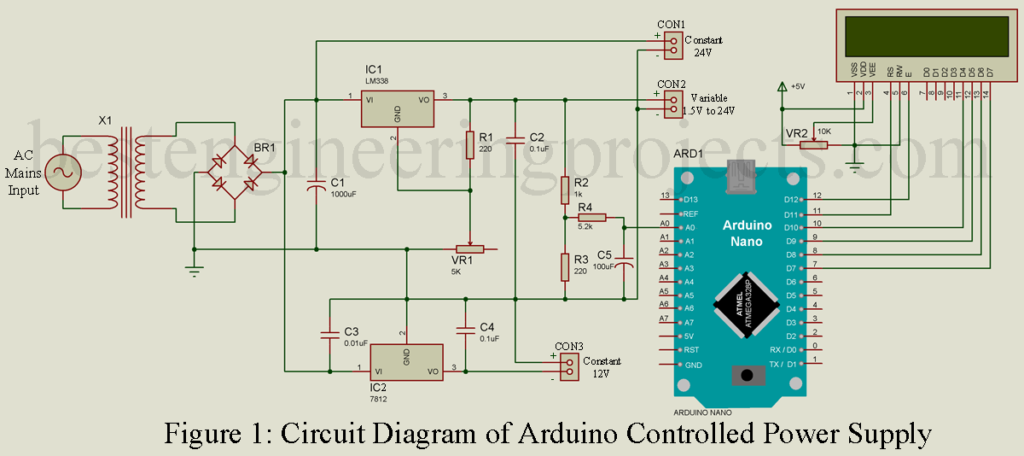 Arduino Controlled Variable Power Supply - Engineering Projects