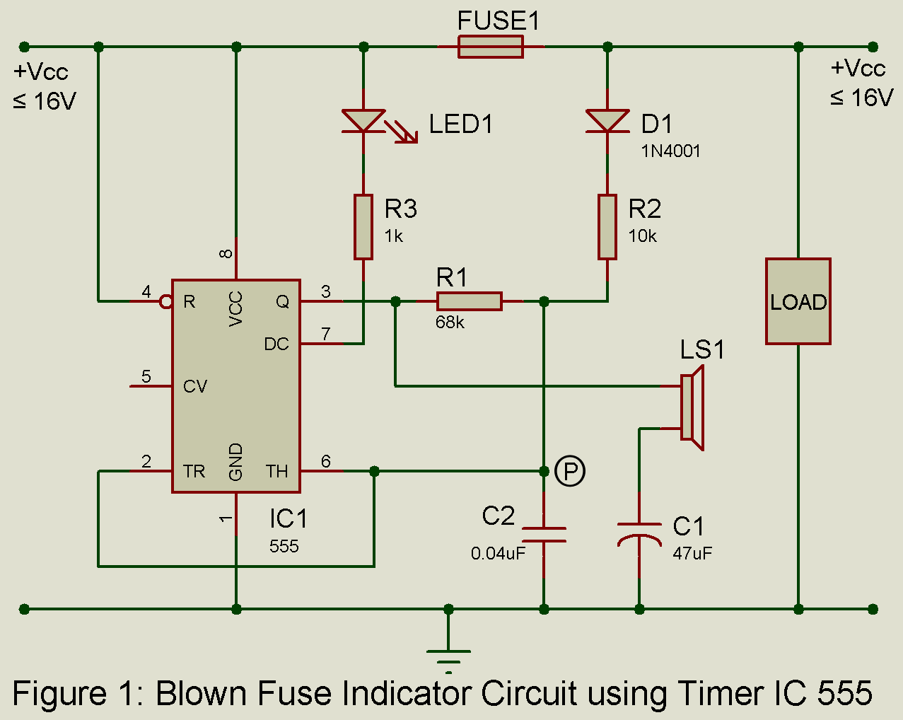 Blown Fuse Indicator Circuit Best Engineering Projects Of Circuits With 555 Ic For