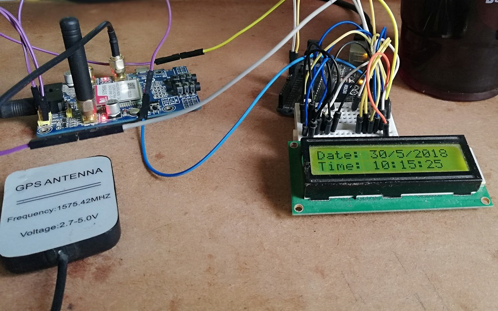 Arduino GPS Digital Clock - Engineering Projects