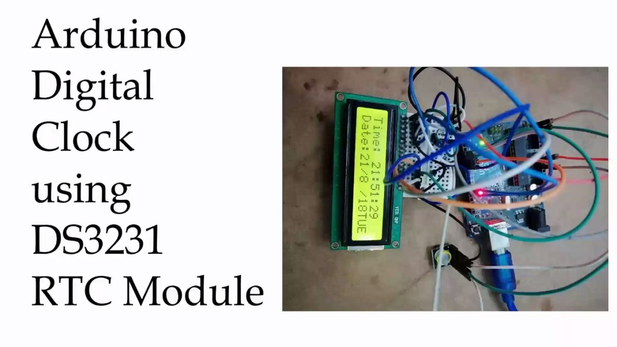 Arduino Digital Clock Using Ds3231 Pi Module Best Engineering Projects Pic Microcontroller And Ds1307 Rtc