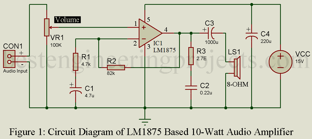 Surprising 10 Watt Audio Amplifier Circuit With Volume Control Wiring Digital Resources Sapredefiancerspsorg