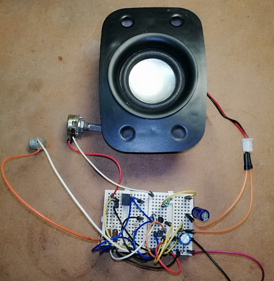 Listening Bug Using Op Amp 741 Based Projects Inverting Amplifier Prototype Circuit Author Of