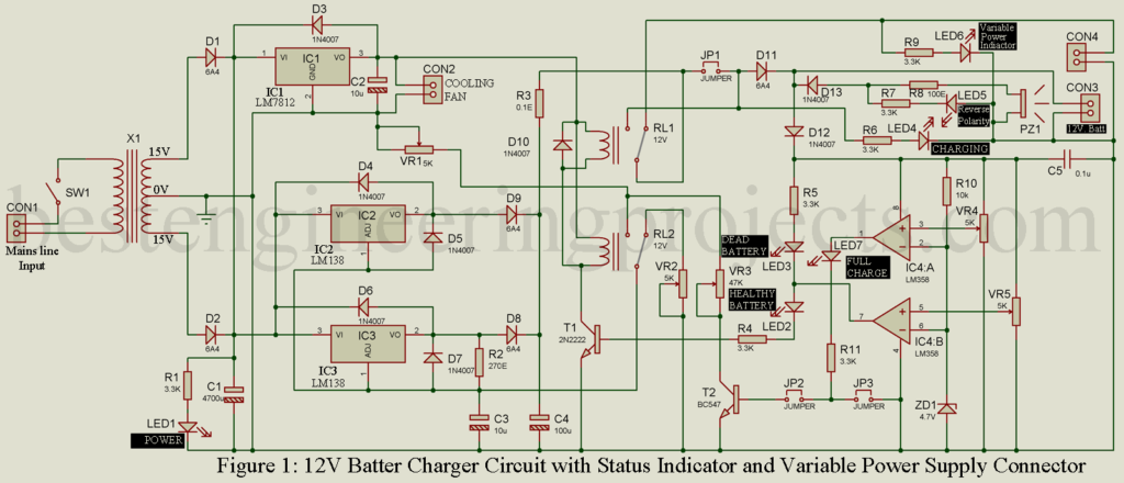 12v Lead Acid Battery Charger Circuit