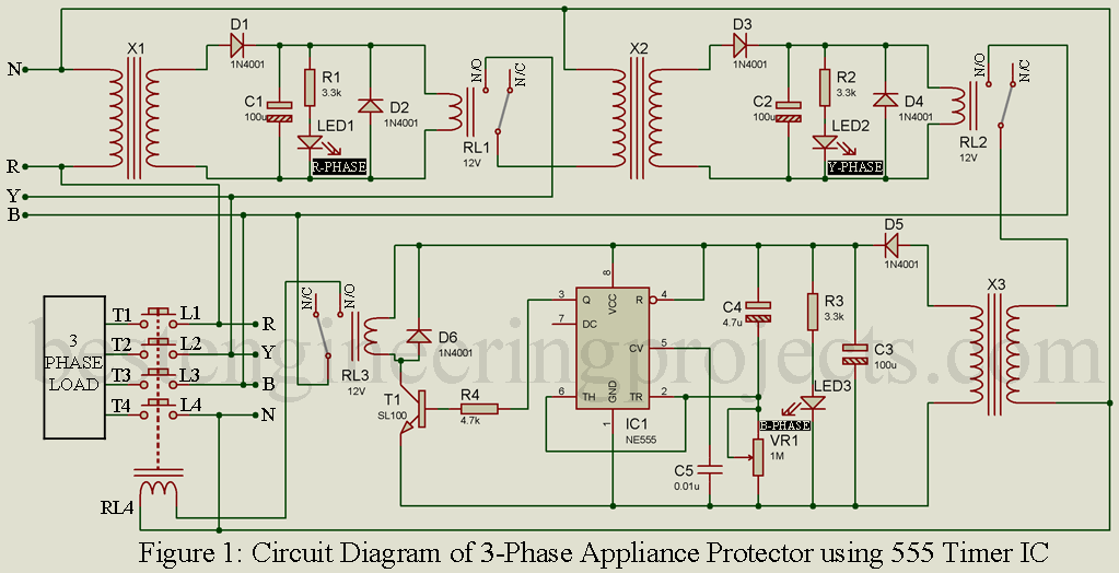 3 Phase Power Wiring Diagram from bestengineeringprojects.com