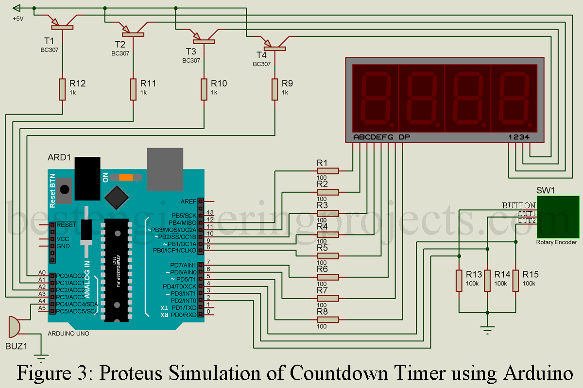 Countdown Timer Using Arduino - Engineering Projects