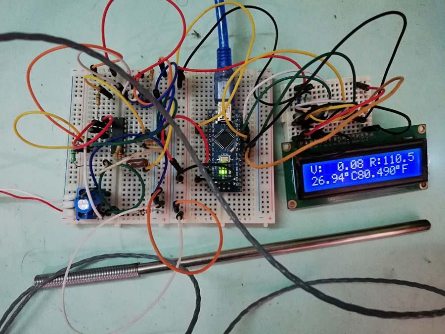 Measuring Temperature using PT100 and Arduino - Engineering