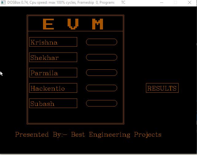 Electronic Voting Machine Prototype Using C - Engineering